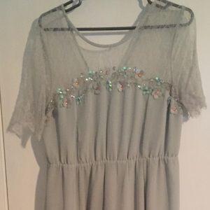 Pale green maternity dress-ASOS